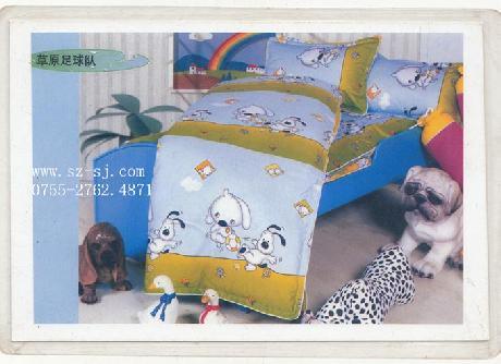 兒童純棉床上用品套件(狗子)