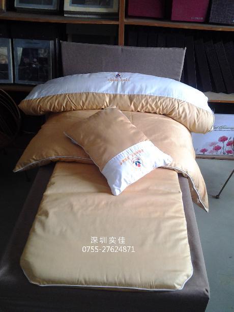 兒童床上用品套件(土金色繡logo)