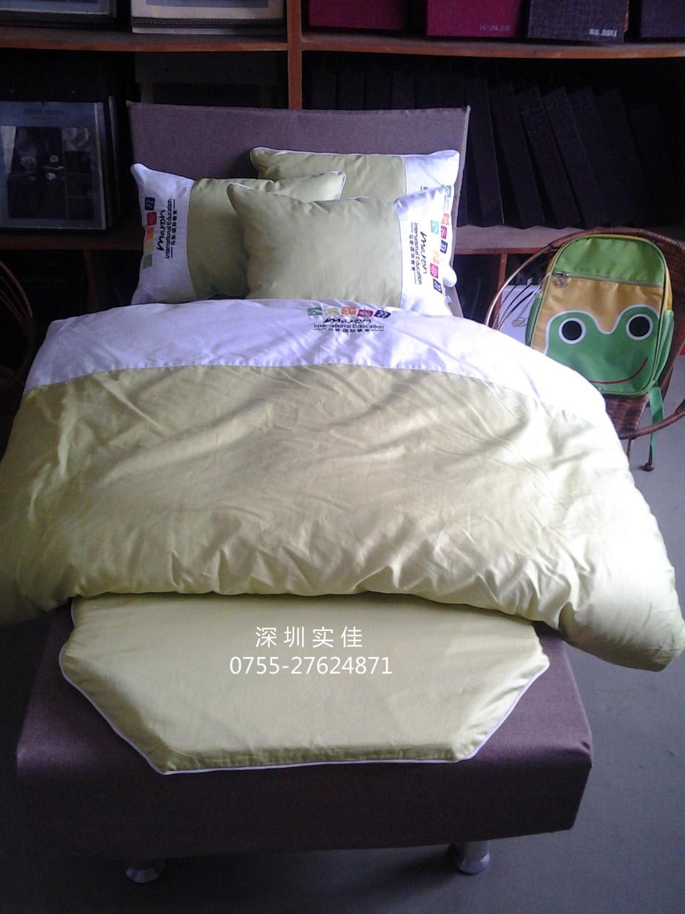l兒童床上用品(綠色繡logo)