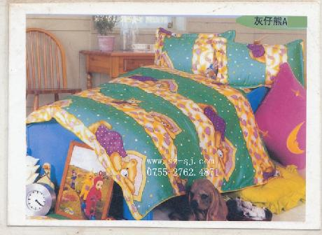 兒童純棉床上用品套件(藍底熊仔)